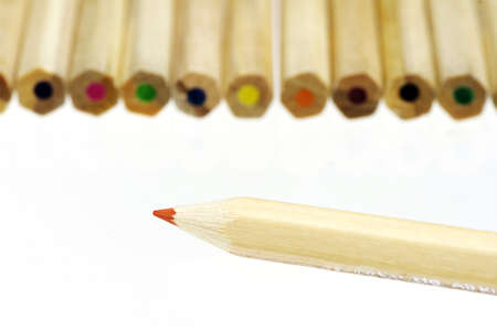 closeup of color pencils Stock Photo - 9261300
