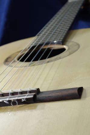 top of handmade classical guitar