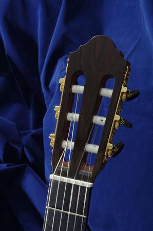 head of handmade classical guitar Stock Photo - 10562565