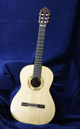 top of handmade classical guitar