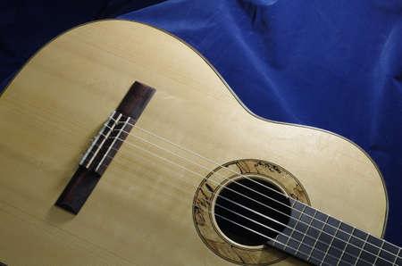 top of handmade classical guitar Stock Photo - 10562584