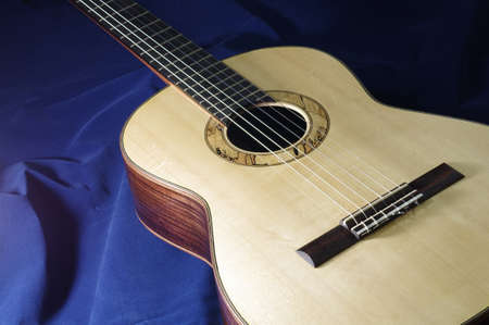 top of handmade classical guitar Stock Photo - 10562583