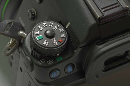 Using manual mode in camera mode dial photo