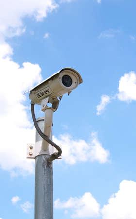 CCTV Camera in the background sky