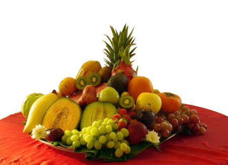 Mix Fruit isolate on white Standard-Bild
