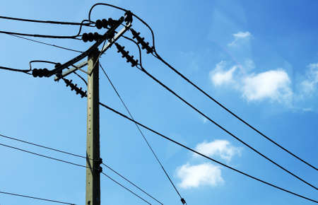 electric wire Stock Photo