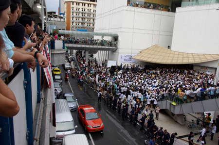Bangkok,Thailand - September 22,2013   Protesters hold an anti-Mae Wong Dam rally  The protesters known as Stop EHIA Mae wong Dam by walking 388 Km  from Mae wong to Bangkok