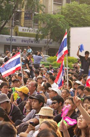 af: BANGKOK, Tayland - Bangkok Demokrasi Anıtı, at Kasım 11,2013 hükümet karşıtı protestocular Tayland Tayland Bangkok Af fatura, sermaye Karşı protesto