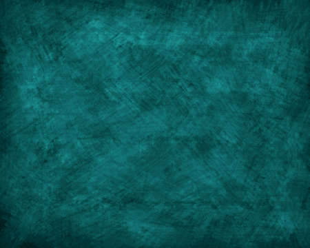 A teal colored grunge textured background