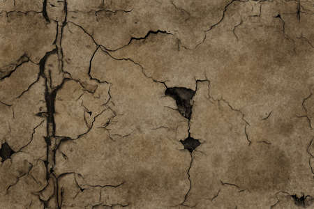 parched: A large illustration of dry, cracked ground. Stock Photo