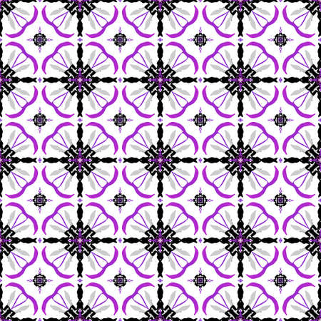 be: This pink and black abstract seamless pattern is on a white background. This large illustration can be put together seamlessly to create any size you need for your project.