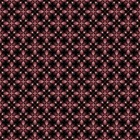 any size: This dark red floral abstract seamless pattern illustration can be pieced together to make any size you need for your projects.