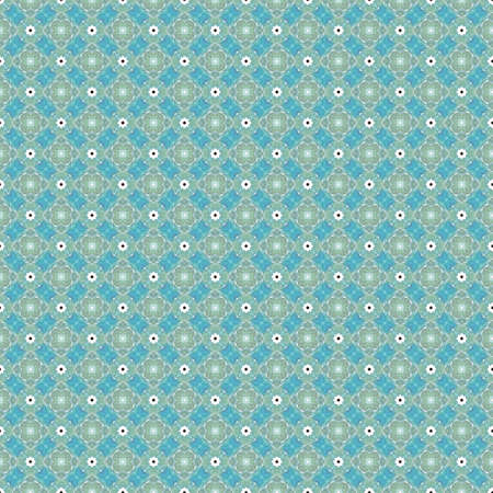 any size: This blue and green abstract seamless pattern illustration can be pieced together to make any size you need for your projects.