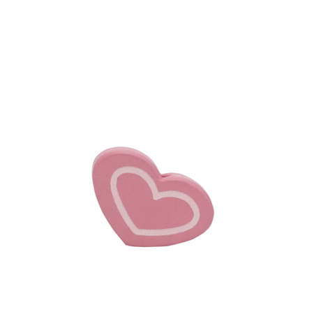 Pink heart isolated on white background.