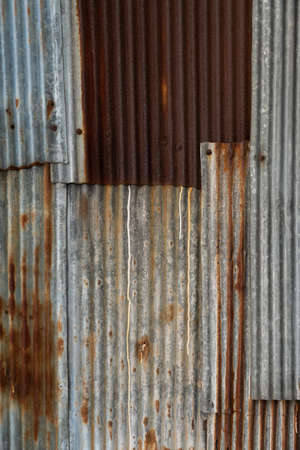 Old zinc surface galvanized rust for background.