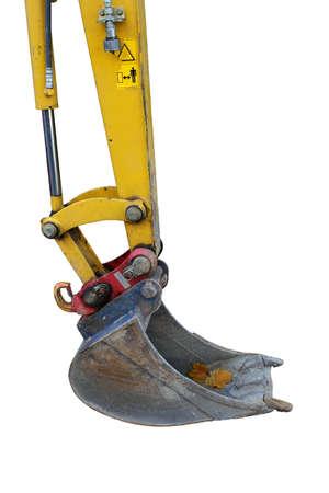scavenging: massive excavator bucket isolated