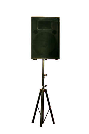 Giant thrashed bass speaker cabinet with Stock Photo - 13436202