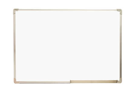 Whiteboard isolated on white background Stock Photo