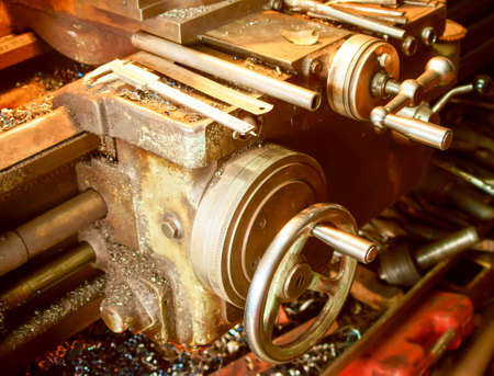The Old lathe in the manufacture solution, the joystick photo