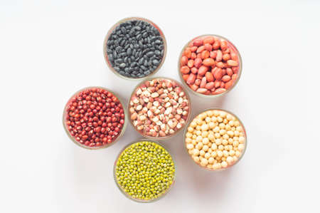 leguminous: variety of beans filled the cup