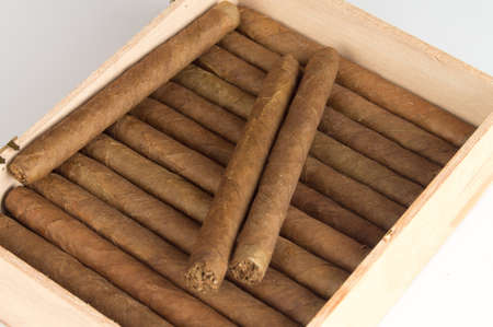 Caja de puros cubanos Foto de archivo - 14547662