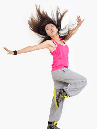 Beautiful girl dance jazz dance Stock Photo