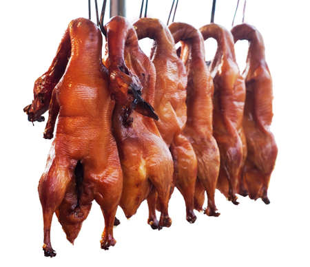 Many of the delicious roast duck