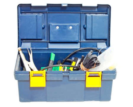 kit of tools in black box Stock Photo - 16231521