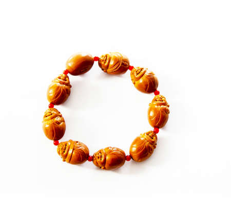 Exquisite Buddhist wooden-beaded Bracelet Stock Photo - 16593803