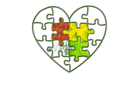 heart shaped leaves: On behalf of the four seasons of heart-shaped puzzle