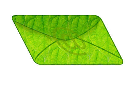 Green mail isolated in the white background Stock Photo - 16858189