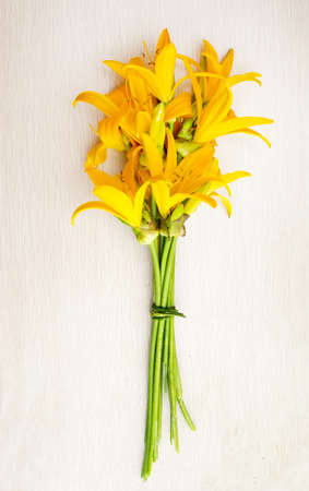 day lily: The a  bouquet of blooming day lily flowers