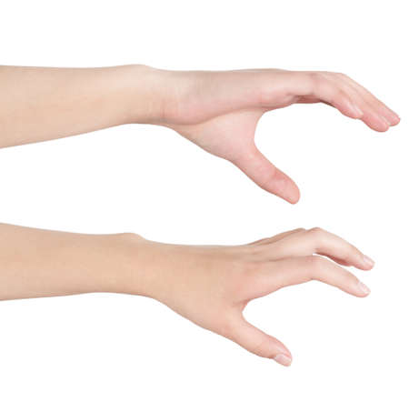 Womans hand, grab the posture