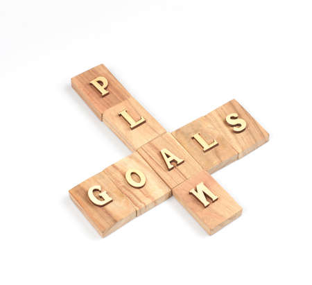 smart goals: The goal and plan word  on white background