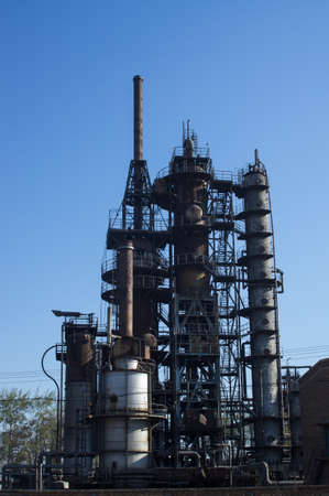 rafinery: The old petrochemical industrial Plant