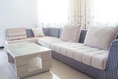 brown and beige modern living room
