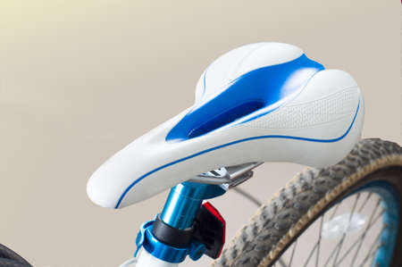 new bicycle close up, isolated on white background