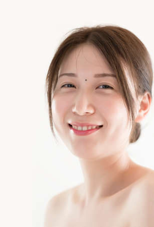 Asian girl with a smile. portrait of elegant woman。 Stock Photo