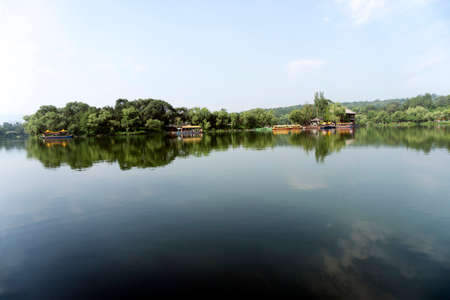 Lake And Pavilion In Chengde Summer Mountain Resort