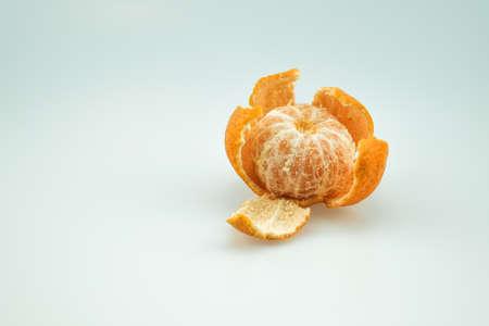 peeled: Peeled Mandarin Orange Stock Photo