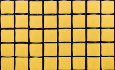 grid pattern: Yellow square boxes in grid pattern with copy space