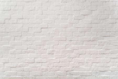 白グランジ レンガ壁の背景、抽象的なテクスチャ