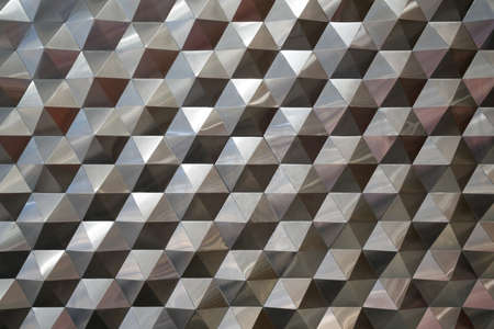 metal pattern: Seamless hexagonal metal pattern background, light and shade metal texture abstract Stock Photo