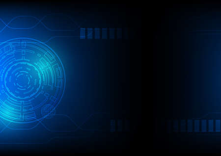 scifi: Technology abstract background in blue, hi-tech sci-fi cyberspace theme concept