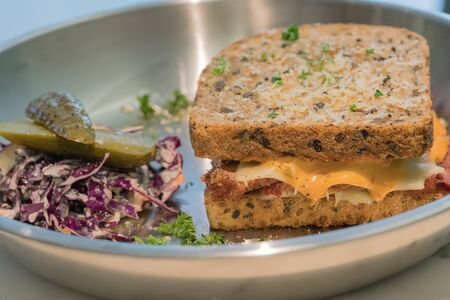 sandwish: soft focus cornbeef sandwish