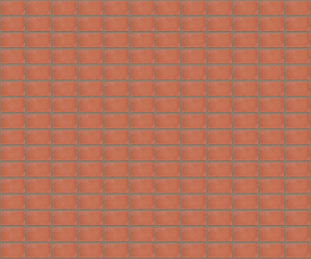unevenly: pattern smooth symmetrical red brick of wall