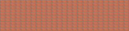 long wall background pattern panorama of red bricks with cement strips Stock Photo