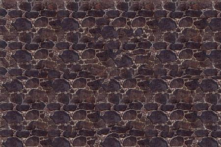 old brick wall: Background stone masonry dark uneven stone pavement natural texture base