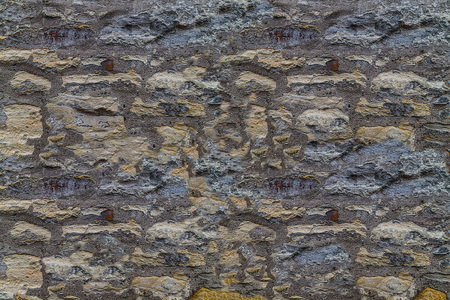 Stone background of limestone natural background wall of an old building Stock Photo