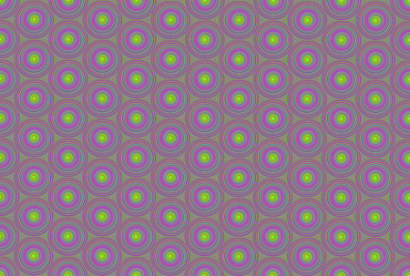 Pattern magical circle swirl green purple gradient colors bright canvas Stock Photo